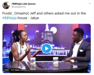 BBNaija: Jackye Names All The Guys That Asked Her Out In The House
